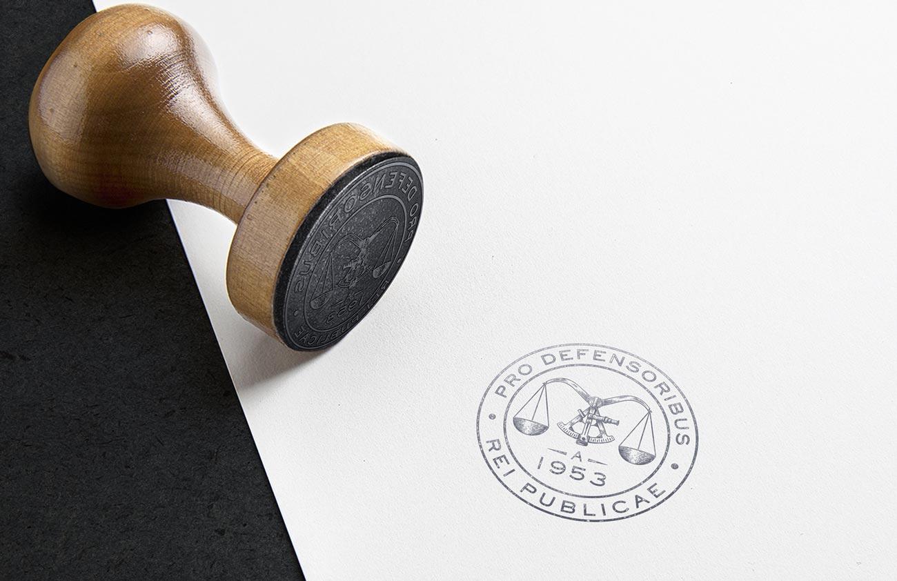 emblema + timbro Studio Legale Guerra creazione di Willbe