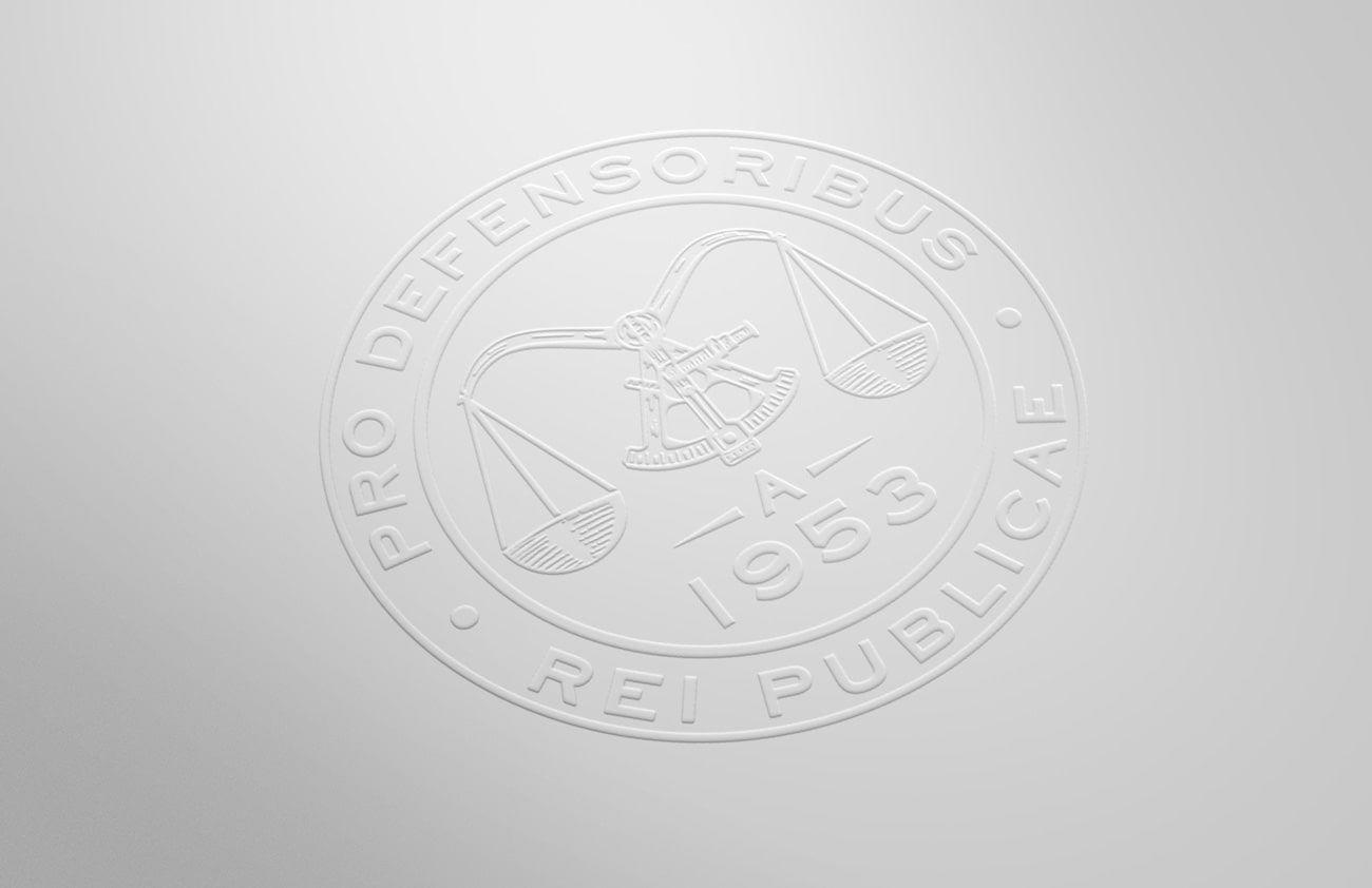 Emblema goffrato (embossed) Studio Legale Guerra creazione di Willbe