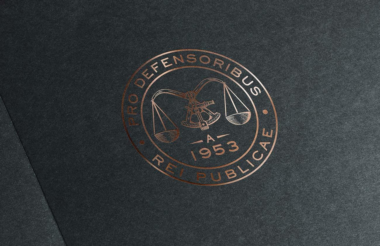 Emblema vettoriale Studio Legale Guerra creazione di Willbe