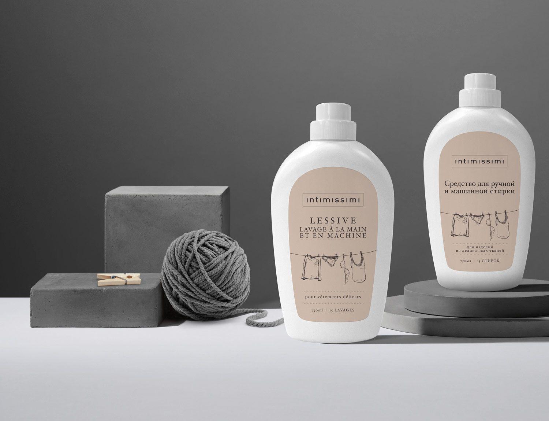 label design detergente bucato intimissimi