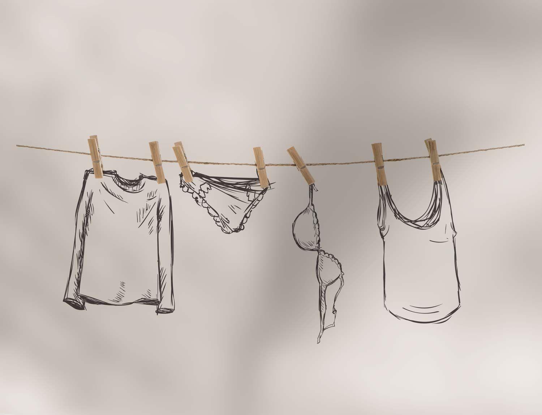 Illustrazioni del packaging detergente bucato Intimissimi realizzate da WillBe