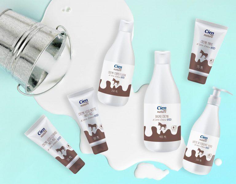 packaging design edizione limitata Cien Latte d'Asina realizzato da WillBe