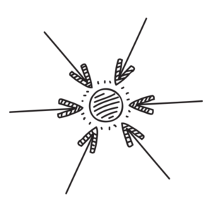 Illustrazione di frecce a indicare la fase di acquisizione di informazioni e analisi nel sito WillBe