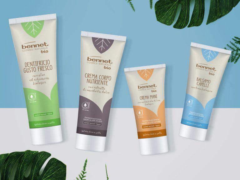 Packaging design Bennet Bio cosmetici