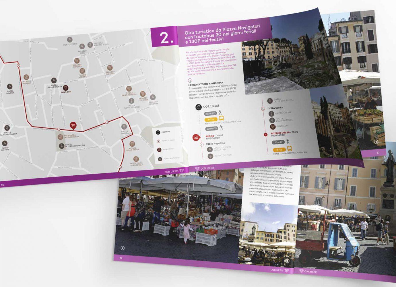 Design di brochure cartacea con itinerario turistico realizzata da WillBe