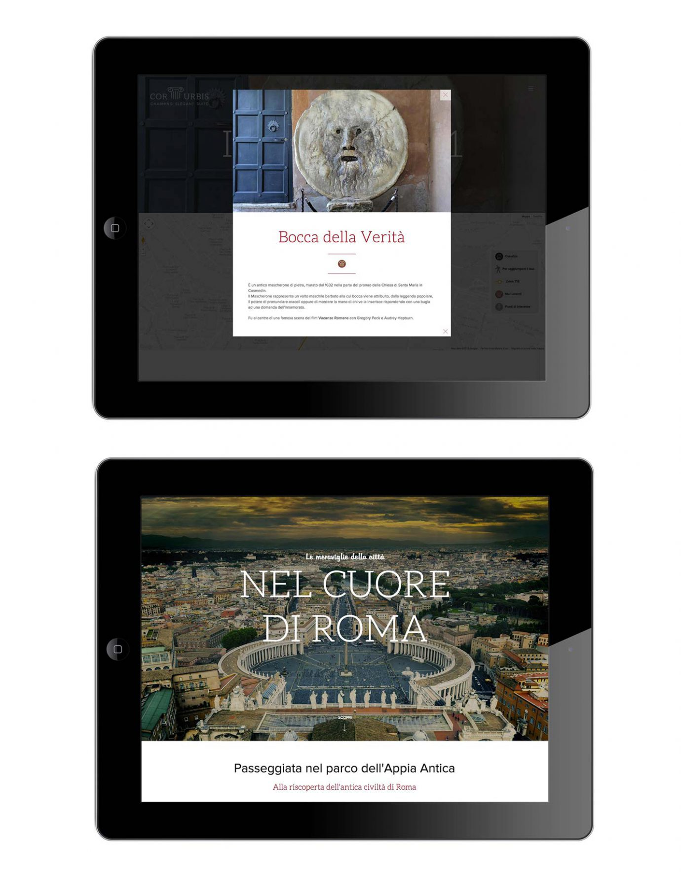 Versione per tablet homepage di sito web responsive per casa vacanze realizzato da WillBe