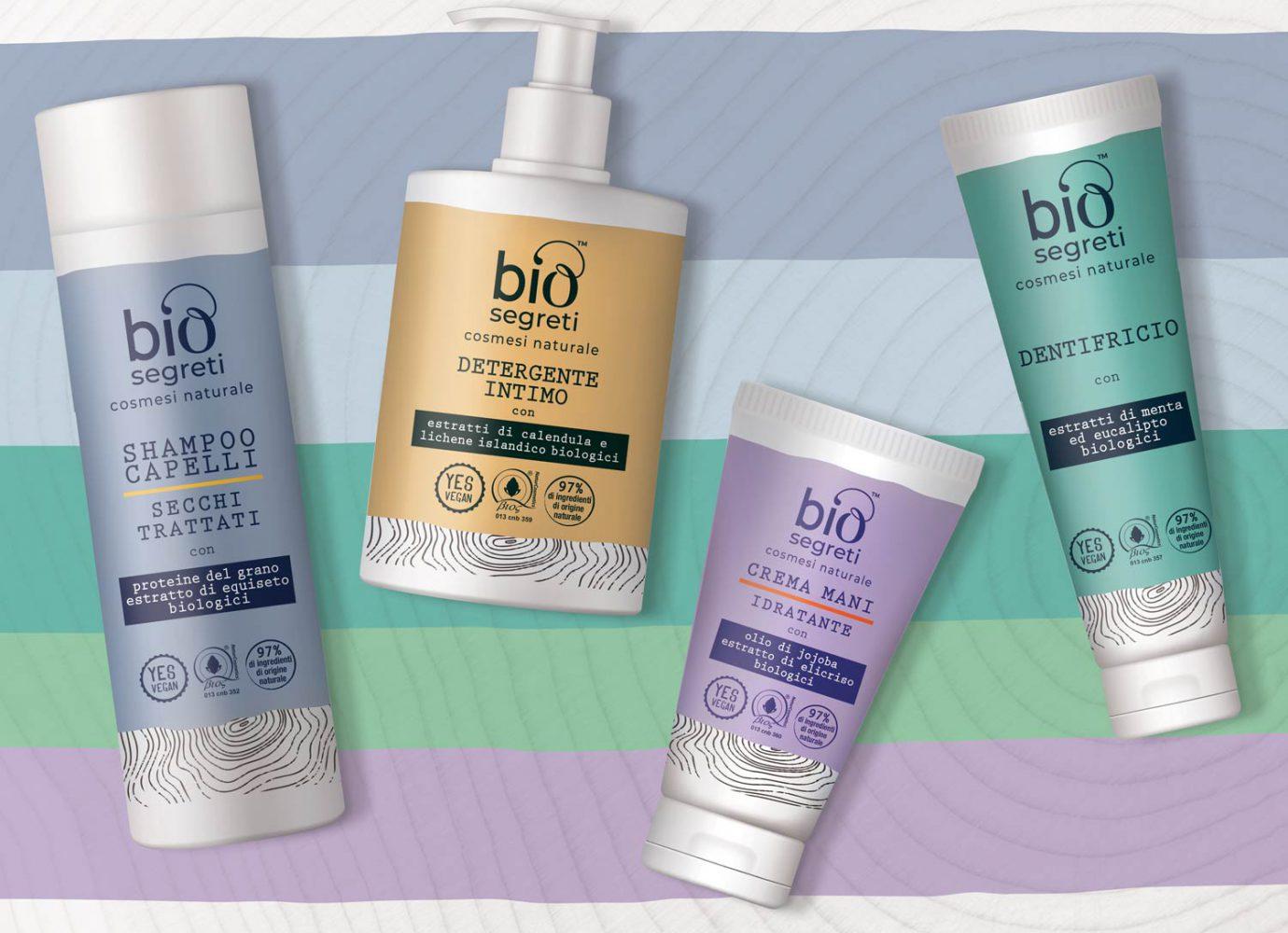 Packaging design di prodotti cosmetici naturali per la GDO realizzato da WillBe
