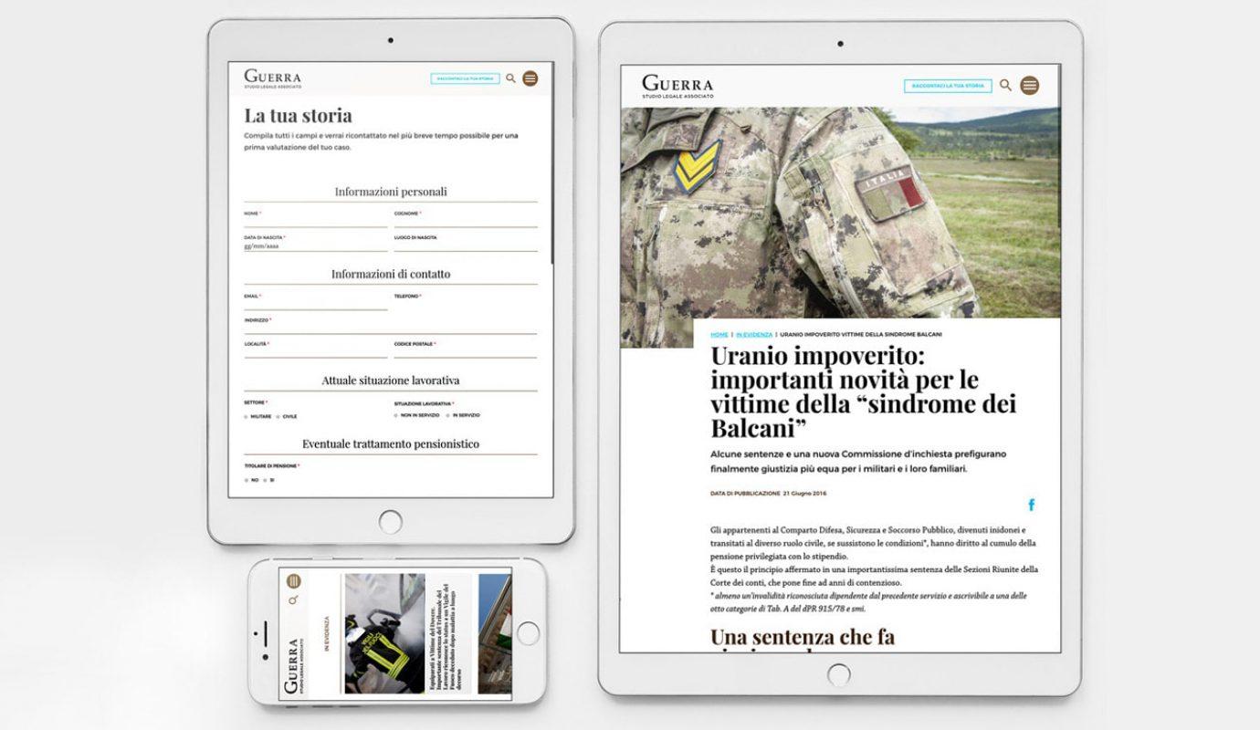 progettazione sito web Studio Legale Associato Guerra