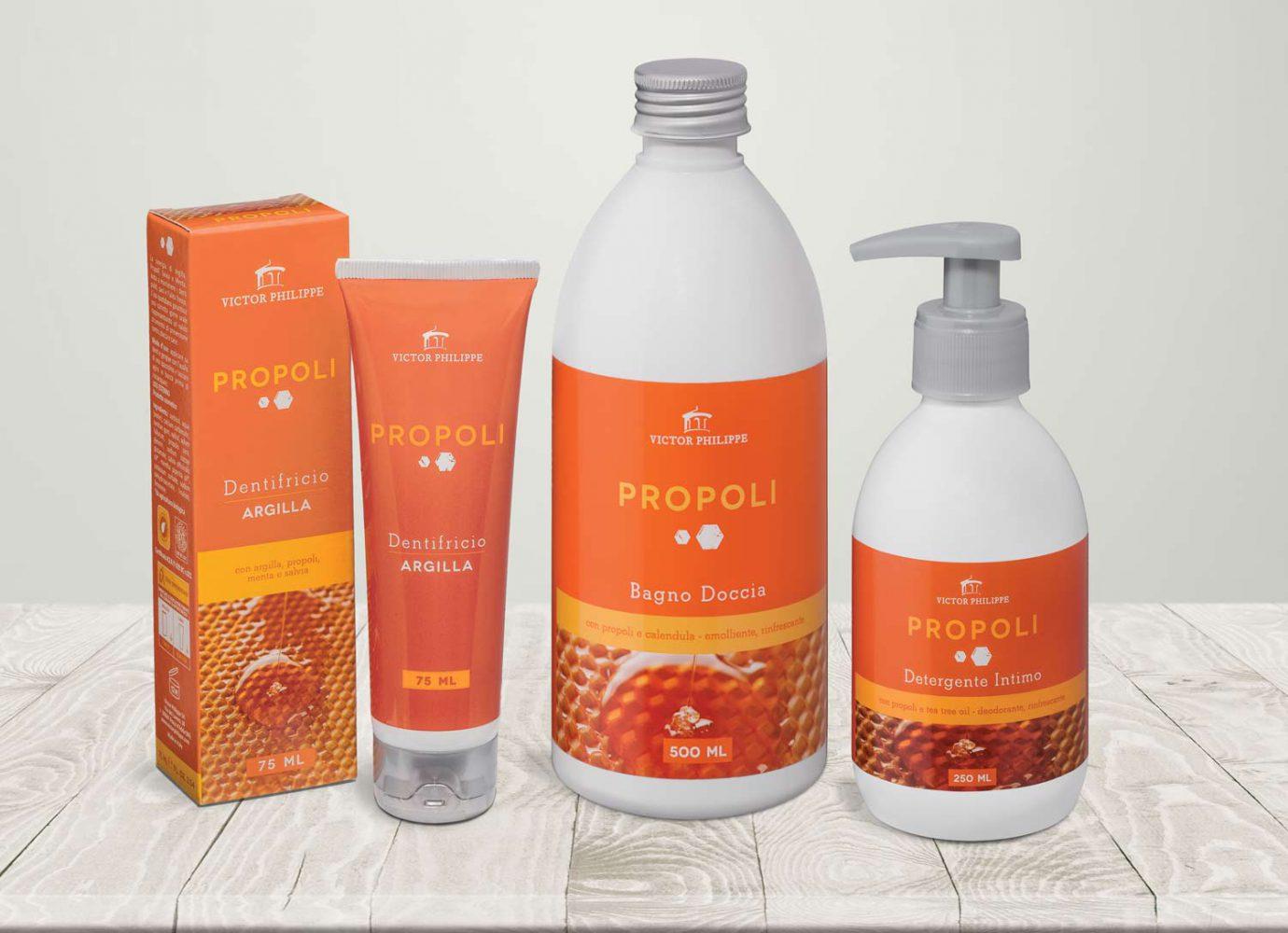 brand identity e packaging design linee bio Propoli