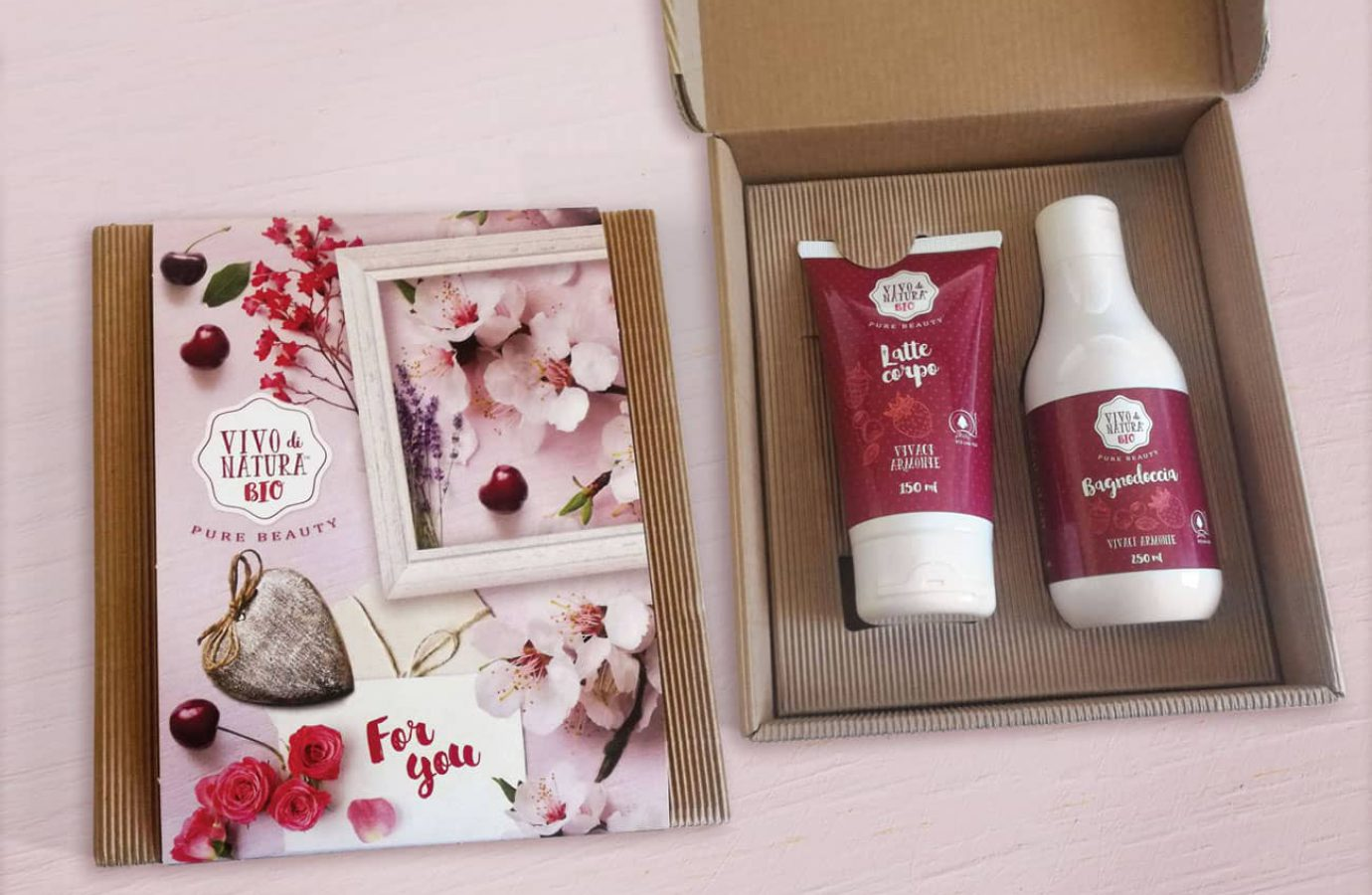 WillBe packaging design cosmesi idee regalo Vivo di Natura scatola Vivaci Armonie
