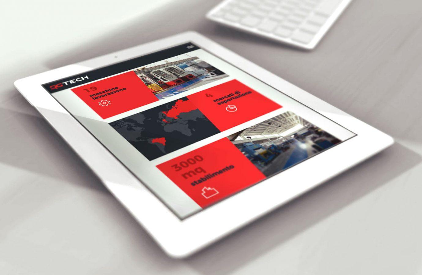 WillBe - web design Rgtech tablet