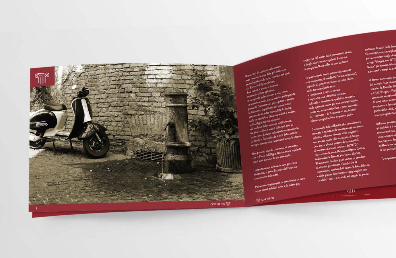 Design di brochure turistica cartacea per casa vacanze realizzata da WillBe