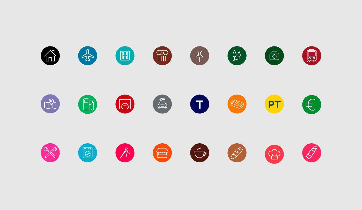 Sistema iconografico per la visual identity su misura per il settore turistico realizzato da WillBe