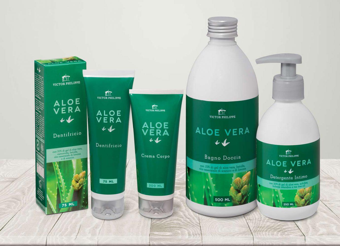 brand identity e packaging design linee bio aloe vera