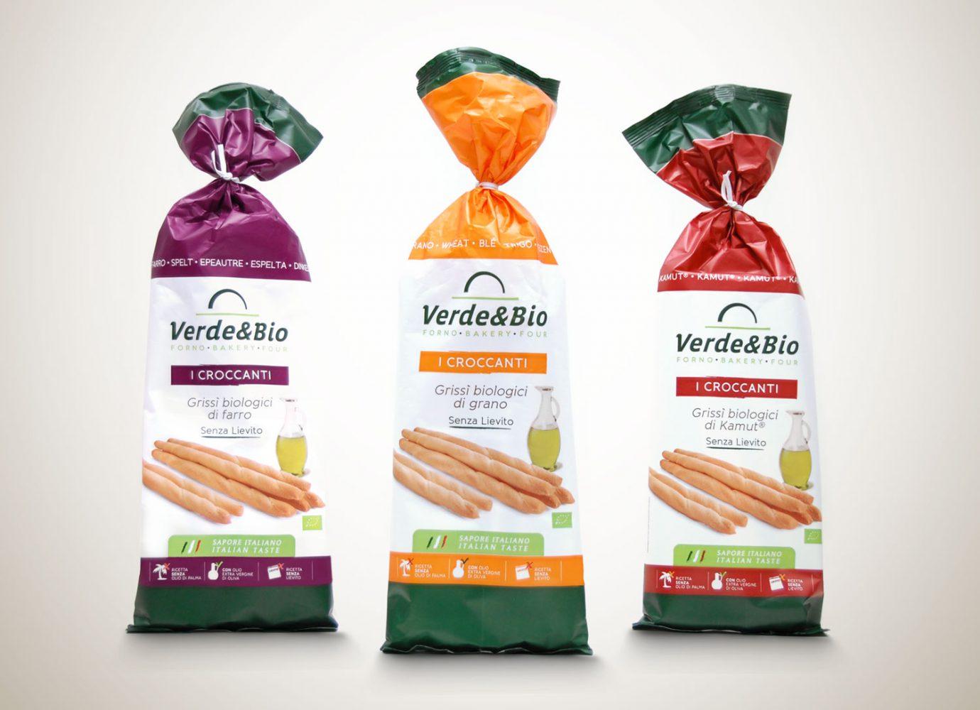 packaging design food bio incarti grissini bio VerdeBio