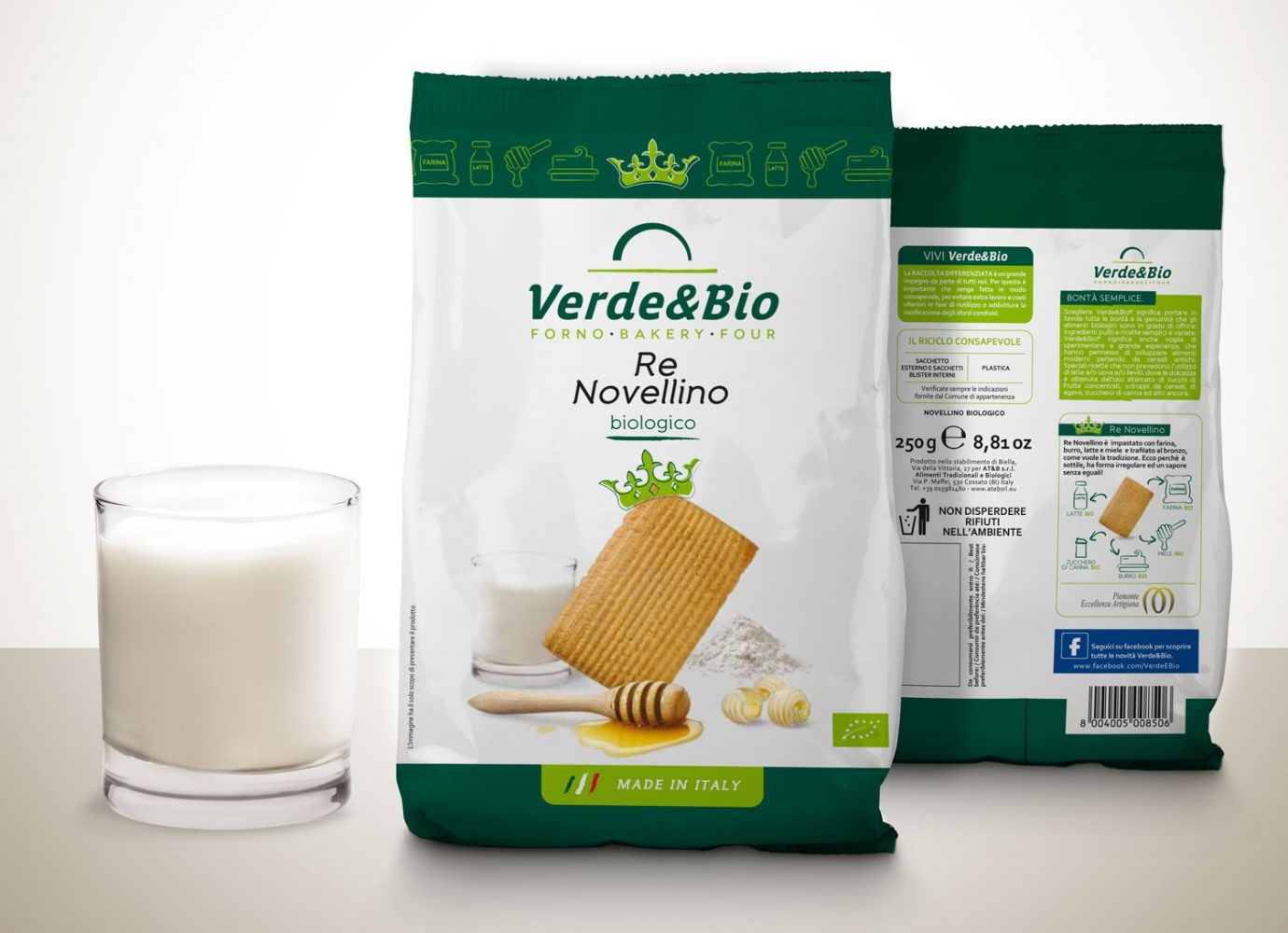 Willbe packaging design food bio biscotti novellini VerdeBio