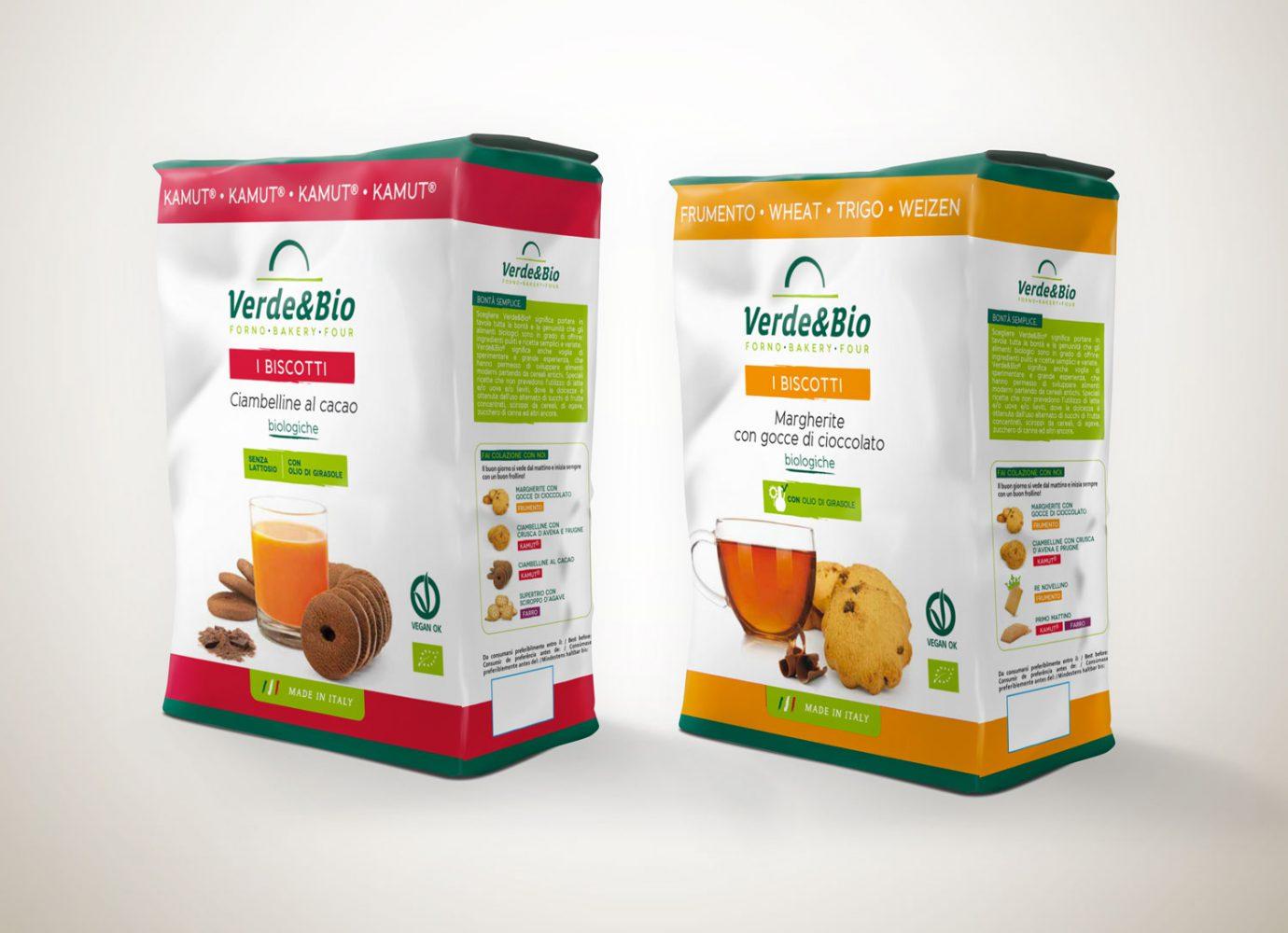 Willbe packaging design food bio biscotti VerdeBio