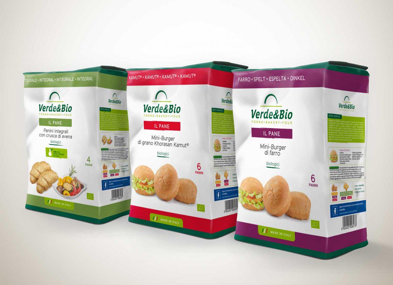Willbe Packaging design incarti panini VerdeBio