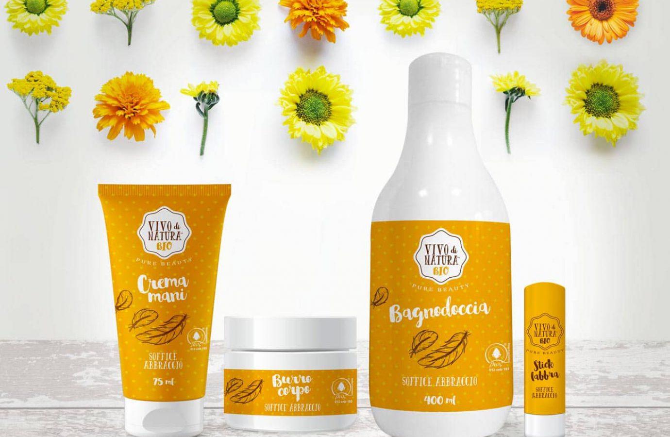 WillBe packaging design cosmesi idee regalo Vivo di Natura soffice abbraccio