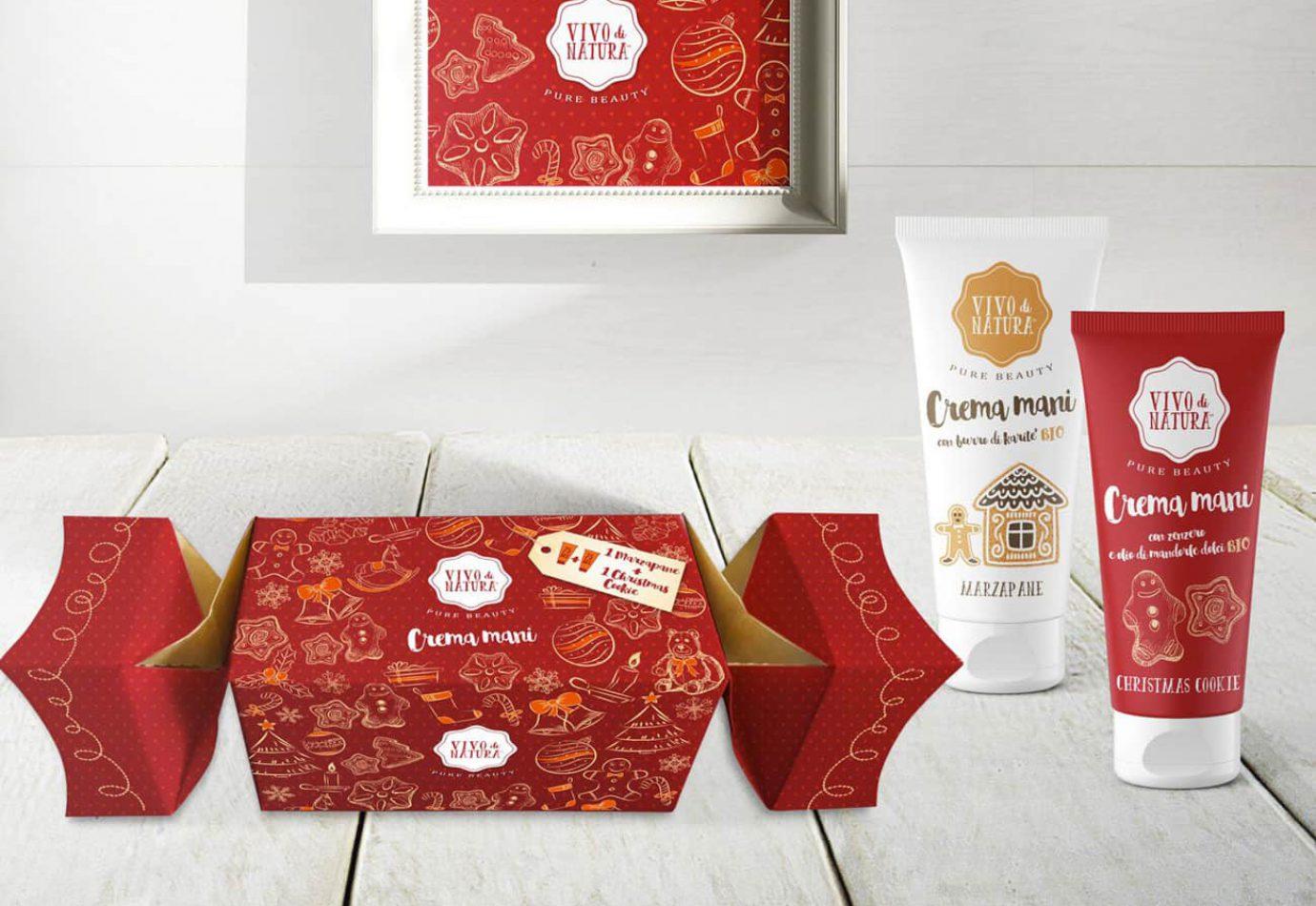 Packaging Design Caramelle Natale Vivo di Natura Christmas Cookie e Marzapane