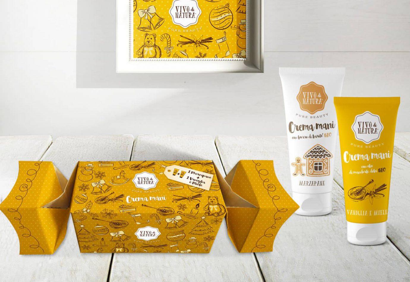 WillBe Packaging Design Caramelle Natale Vivo di Natura Vaniglia e Miele