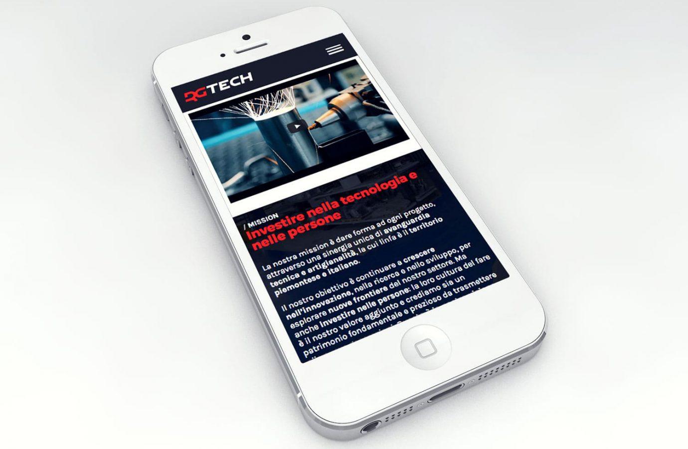 WillBe - web design Rgtech mobile