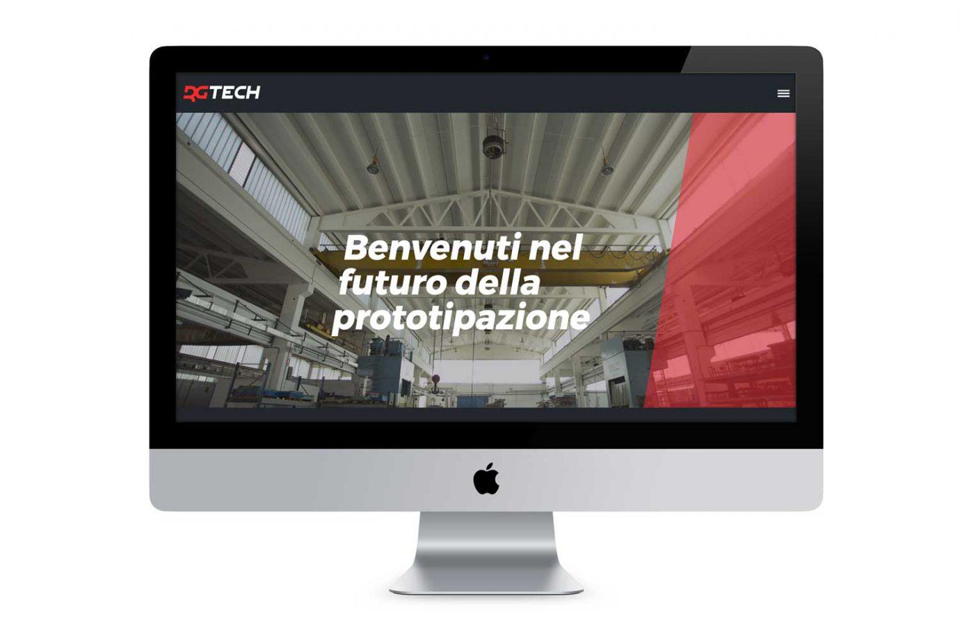 WillBe - web design Rgtech desktop
